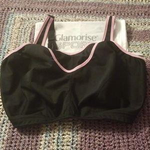 Glamorise 1066 No Bounce Camisole Sprts Bra 48G